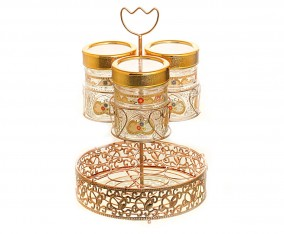 Candy Jar With Water Rack GA3 Motif Camelia