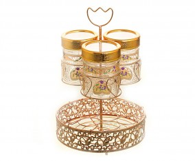 Candy Jar With Water Rack GA3 Motif Lily