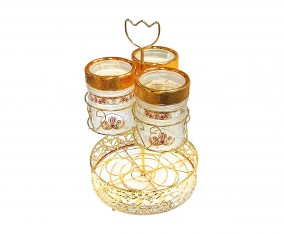 Candy Jar With Water Rack GA3 Motif Sapphire