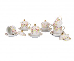 Cup & Saucer YA85 Motif Patricia