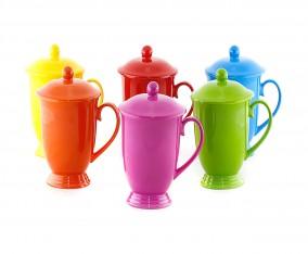 Mug Set Warna-Warni dengan Tutup M30