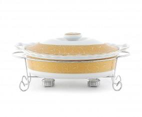 Oval Food Warmer B683 Motif Marigold