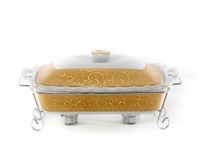 Penghangat Makanan Persegi Panjang B680 Motif Marigold
