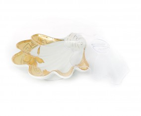 Shell Plate With Cover H11-C Motif Lily