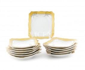 Piring Kotak Kecil B423 1 Lusin Motif Padi
