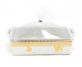 Square Cake Plate P137 Motif Lily