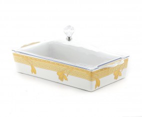 Square Cake Plate P138 Motif Lily