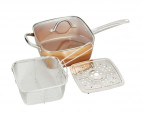Square Pan With Lid 24 Cm VSP24