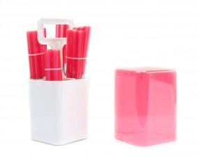Sendok dan Garpu Set V241C Warna Merah Muda