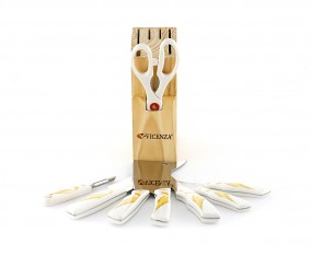 Stainless Steel Knife Set V919K Motif Lily