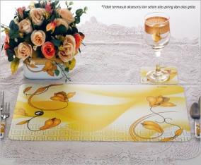 Tatakan Piring dan Gelas Table Mat VM01 Motif Lily