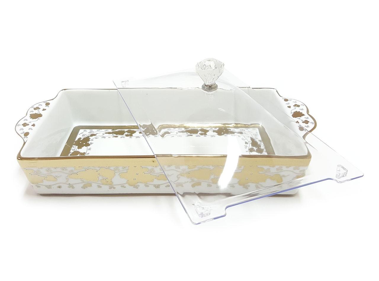 Tempat Kue Persegi Panjang CRP138 Motif Virgo