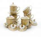 Cup & Saucers W/ Cover CRY85 Motif Gemini