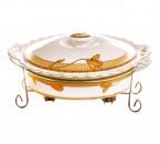 Penghangat Makanan Oval B683 Motif Lily