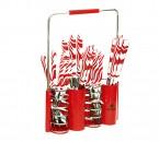 Sendok dan Garpu Set V242C Motif Zebra Warna Merah