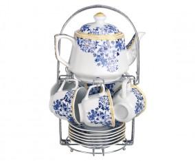 Tea Set Segi Delapan CA78 Motif Ayana