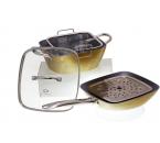 Peralatan Masak Persegi V5492 Warna Gold