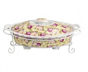 Oval Food Warmer BA683 Motif Mawar