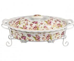 Oval Food Warmer BA683 Motif Melati