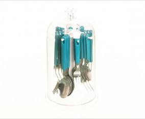 Sendok & Garpu Set V248C Warna Biru Muda