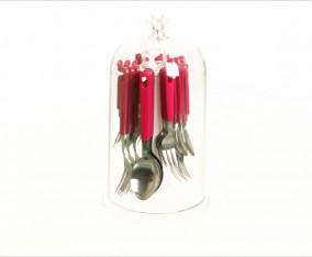Sendok & Garpu Set V248C Warna Merah