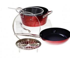 Peralatan Masak Bulat V5491 Warna Merah
