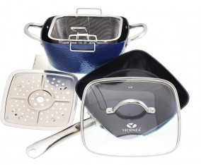 Peralatan Masak Persegi V5492 Warna Biru