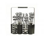 Sendok dan Garpu Set V242C Motif Zebra Warna Hitam
